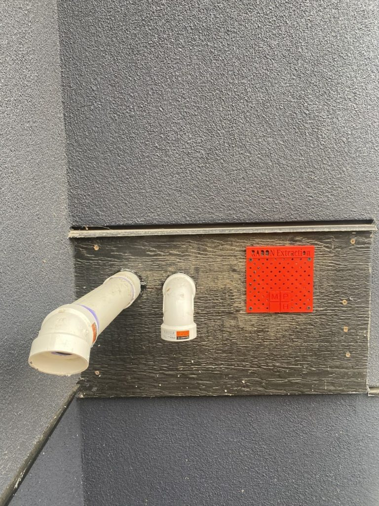 Custom 3D printed radon mitigation system