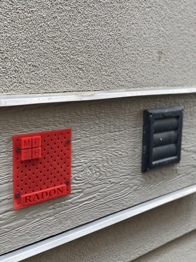 Millenium Plus Homes 3D printed radon ventilation system